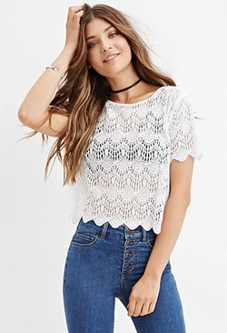 Forever 21 - Sheer Eyelash Lace Top