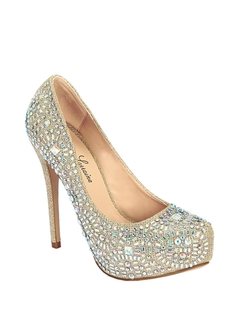 Lauren Lorraine - Vanna Embellished Metallic Pumps
