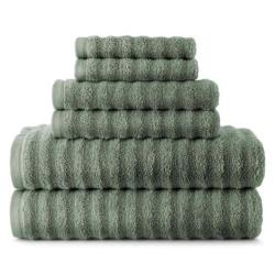 Studio - Quick-Dri 6-pc. Ribbed Bath Towel Set