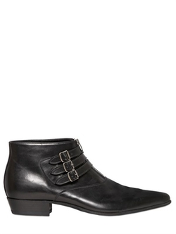 Saint Laurent - Leather Ankle Boots