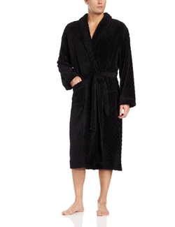 Majestic International - Diamond Lattice Fleece Robe