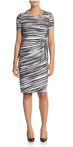 Marc New York By Andrew Marc - Striped Tie Sheath Dress