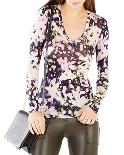 BCBGMAXAZRIA  - Jan Floral-Print Top