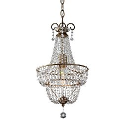 Feiss - Dutchess One Light Burnished Silver Chandelier