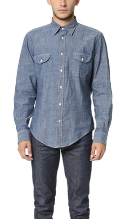 Hartford - Two Pocket Chambray Shirt