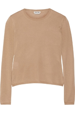 Miu Miu - Cashmere and Silk-Blend Sweater