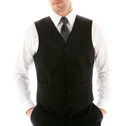 STAFFORD - Stripe Suit Vest