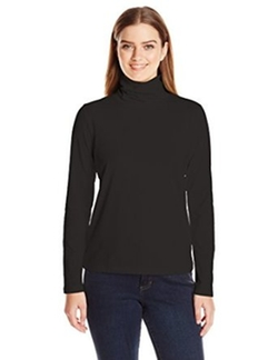 Anne Klein - Solid Jersey Turtleneck Top