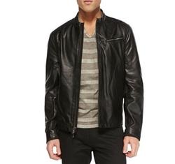 John Varvatos Star USA - Tumbled Leather Moto Jacket