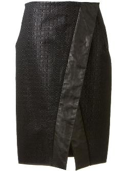 Edun - leather trim skirt