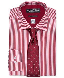 Nick Graham - Red Stripe Dress Shirt & Tie Set