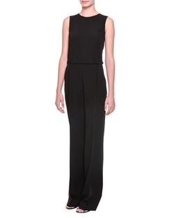 Bottega Veneta - Button-Off Top Pleated Jumpsuit