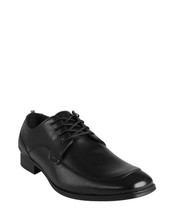 Kenneth Cole Reaction  - Black Leather Lace-Up Ghost Trace Oxfords