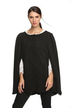 Zeagoo - Front Button Poncho Cape