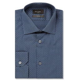 Paul Smith London - Blue Polka- Dot Cotton Shirt