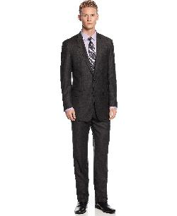 Calvin Klein - Charcoal Flannel Peak Lapel Slim X Fit