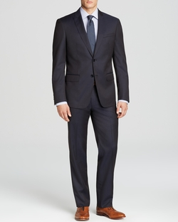 John Varvatos  - Slim Fit Luxe Peak Lapel Solid Suit
