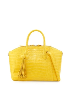 Nancy Gonzalez - Crocodile Satchel Bag With Tassel