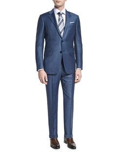 Ermenegildo Zegna - Sharkskin Silk-Blend Two-Piece Suit