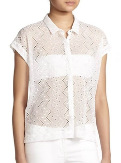 The Kooples  - Embroidered Chiffon Blouse