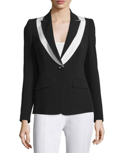 Escada - One-Button Two-Tone Jacket