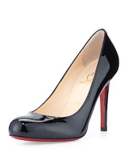 Christian Louboutin	  - Simple Patent Red Sole Pump