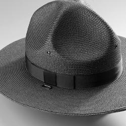 Campaign Hat - Straw Triple Brim Campaign Hat