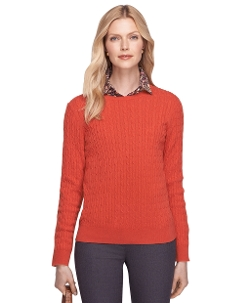 Brooks Brothers - Cashmere Cable Knit Crewneck Sweater