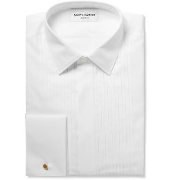 Saint Laurent - Bib-Front Cotton Tuxedo Shirt