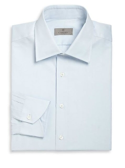 Canali  - Solid Cotton Dress Shirt