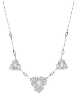 Eliot Danori - Pavé Flower Statement Necklace