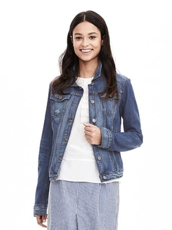 Banana Republic - Distressed Denim Jacket