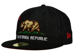 New Era - California Cal Black Denim Cap