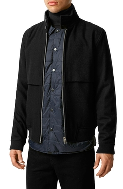 Topman - Wool Blend Harrington Jacket