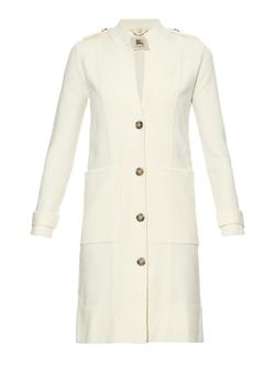 Burberry London  - Silk And Wool Blend Bouclé Cardigan