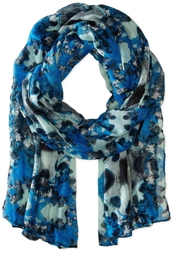 Rampage  - Watercolor Floral Lt Weight Oblong Scarf