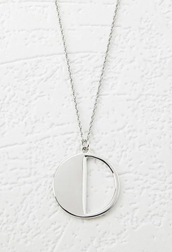 Foerver 21 - Cutout Circle Charm Necklace