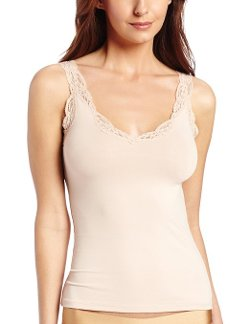 Only Hearts  - Delicious Deep V-Neck Tank Top With Lace