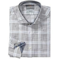 Thomas Dean  - Cotton Plaid Sport Shirt - Long Sleeve