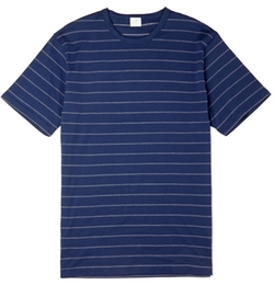 Sunspel - Pin-Dot Striped Cotton T-Shirt