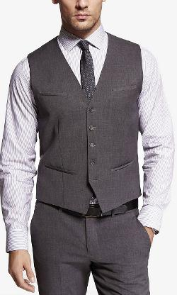Express - Stretch Wool Suit Vest