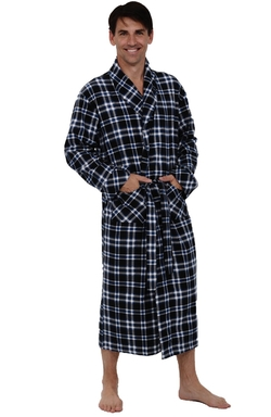 Del Rossa - Cotton Flannel Robe