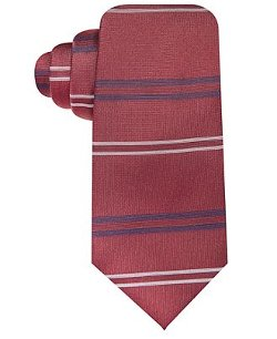 Ryan Seacrest Distinction - Cali Horizontal-Stripe Slim Tie