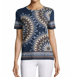 Tory Burch  - Libby Deco-Fan Graphic Tee