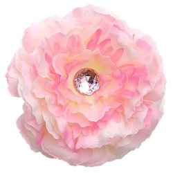 Reflectionz  - Large Peony Flower Hair Clip