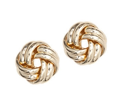 Anne Klein - Goldtone Knot Stud Earrings