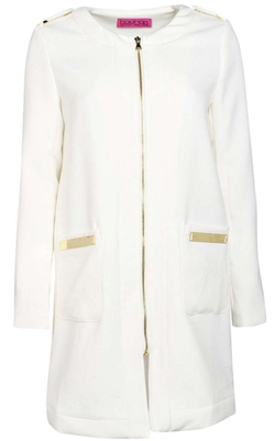 Boohoo - Boutique Kira Collarless Duster Coat