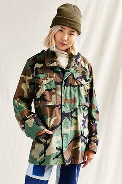 Urban Renewal Vintage  - Lined Camo Jacket