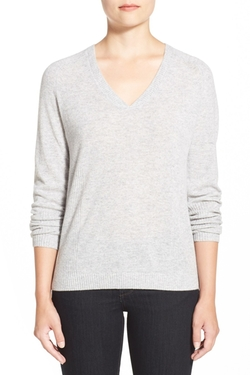 Nordstrom Collection - Double V-Neck Cashmere Sweater