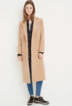 Forever 21 - Notched Lapel Duster Coat